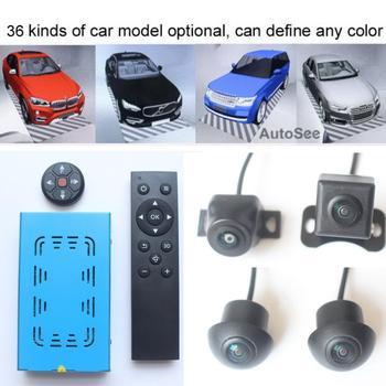 36 tipos de modelo de coche, llave 3D-AVM inteligente alrededor de la vista monitoreo de 360 grados sistema de cámara DVR, construido en choque g-sensor