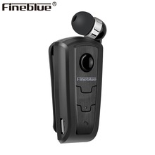 FineBlue F910 Mini Wireless Driver Bluetooth Headset Calls Remind Vibration Wear Clip Sports Running Earphone Auriculares