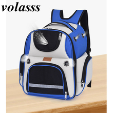 Volasss Cat Space Bag New Outdoor Travel Oxford Backpack Kittens Puppie Breathable Pet Backpacks Portable Large Capacity Handbag