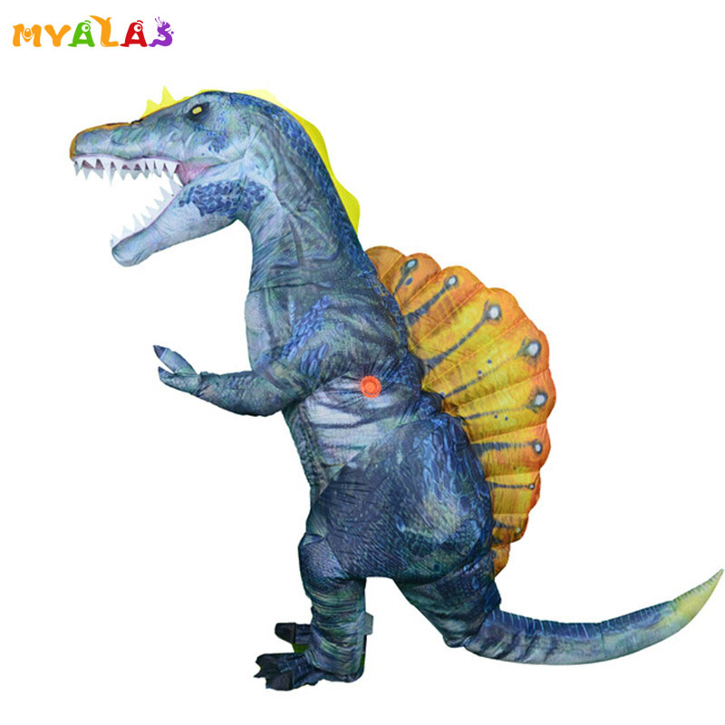 Jurassic Spinosaurus Inflatable Dinosaur Adult Costume Funny Cosplay Blowup Suit