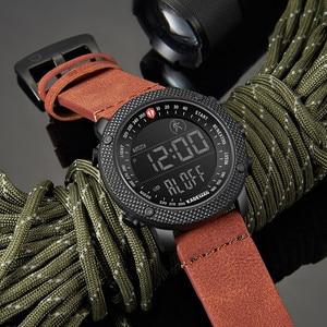 Image 3 - KADEMAN TOP Brand Luxury Men Watch LED Digital Display Sport Mens Watches Waterproof Military Fashion Male Leather Wristwatch