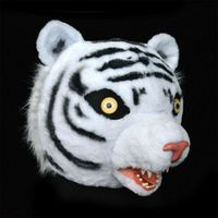 Cosplay Party Game Fancy Dress Tiger Mascot Custome Fursuit Animal Mask Halloween Lifelike Advertising Parade Unisex Character