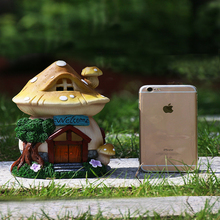 Ornaments Solar Energy Decorate Lamp House Ornament Outdoors Villa Garden Courtyard Home Furnishing Balcony National Day Gift