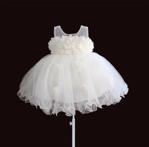 Image 5 - baby girls dresses lace flower kids clothing princess wedding baptism children wear 1 year birthday vestido infantil 6M 4Y