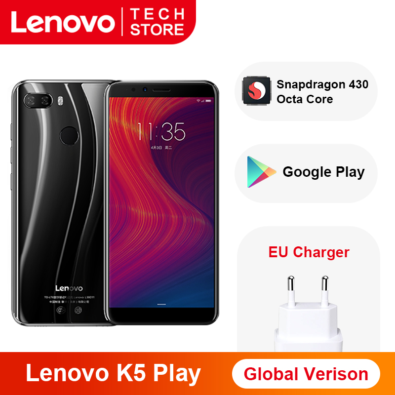 Original Global Version Lenovo K5 Play 3GB 32GB Smartphone Snapdragon 430 Octa Core Fingerprint 5.7'' Inch 18:9 Rear Camera 13MP