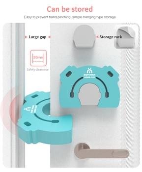 Creative Wall Protector Door Handle Bumper Guard Stopper Anti-slip Sticker Round Door Crash Pad Door Stops Home Baby Safety 5