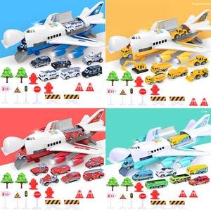 Image 4 - 音楽ライトシミュレーショントラック慣性子供のおもちゃ航空機大サイズ旅客機子供旅客機おもちゃの車無料ギフトマップ