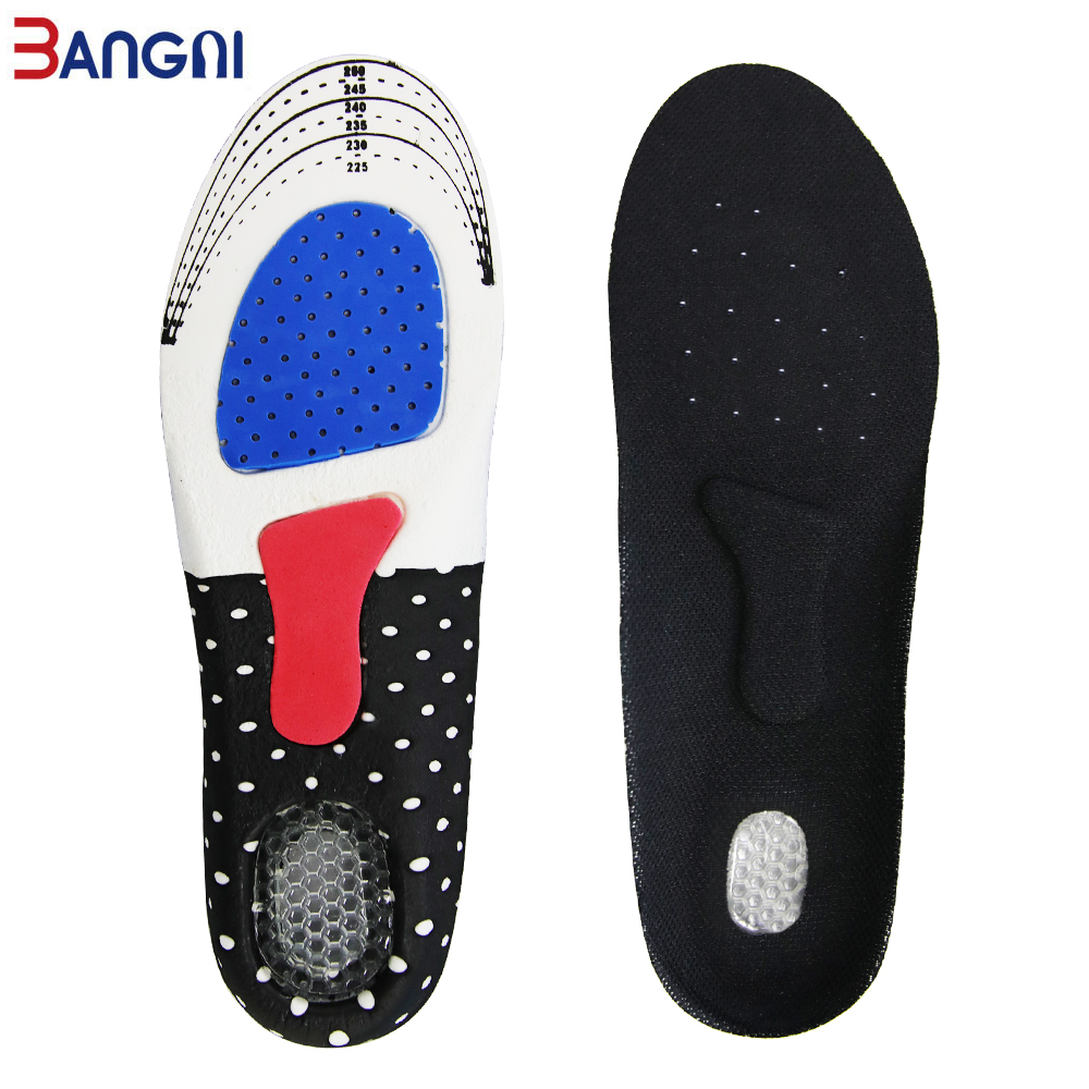 3ANGNI Unisex Gel Silicone Insoles Orthotic Arch Support Foot Care Sport Shoe Pad For Plantar Fasciitis Heel Spur Insert Cushion