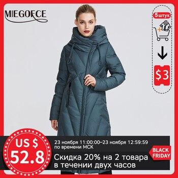 MIEGOFCE – Manteau pour femme, avec col coupe-vent, parka très élégante, veste d'hiver pour femme, nouvelle collection 2020 1