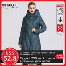 Women Coat Winter Jacket MIEGOFCE Windproof Collar New-Collection with A-Resistant Parka