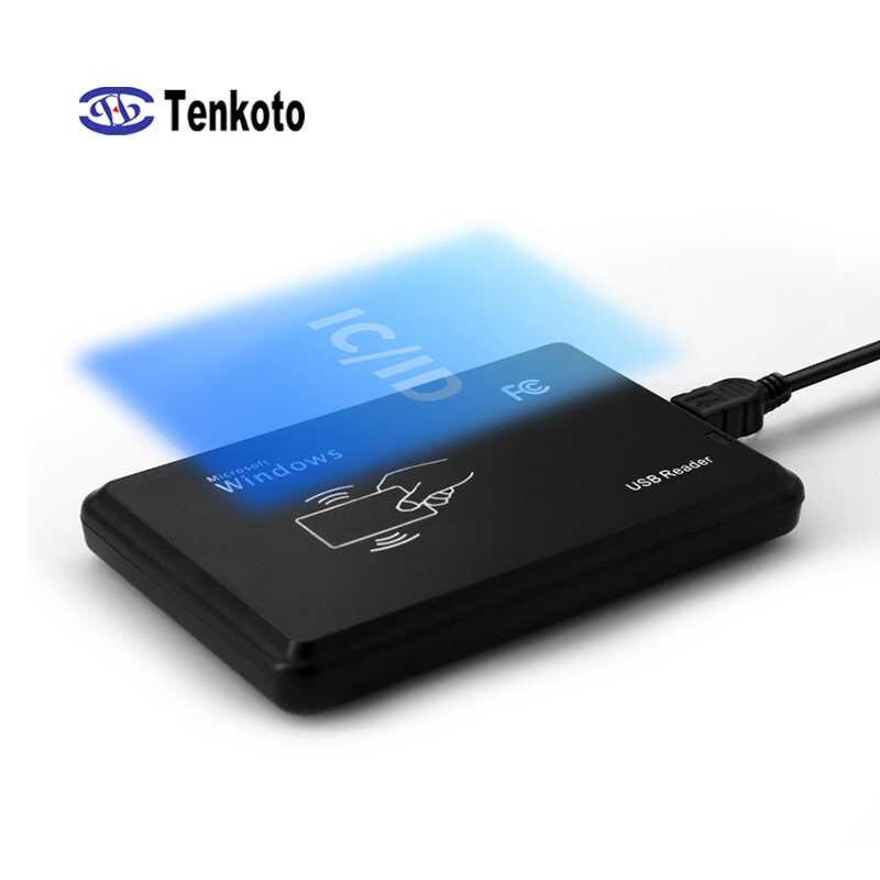 USB RFID ללא מגע כרטיס חכם קורא NFC קורא 10 קצת 13.56khz Windows דלת בקרת הגישה IC או מזהה NFC קורא