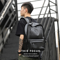 TANGHAO 2019 Hot Sale Waterproof 14 inch Laptop Backpack Men Leather Backpacks for Teenager Travel Casual Daypacks Mochila Male