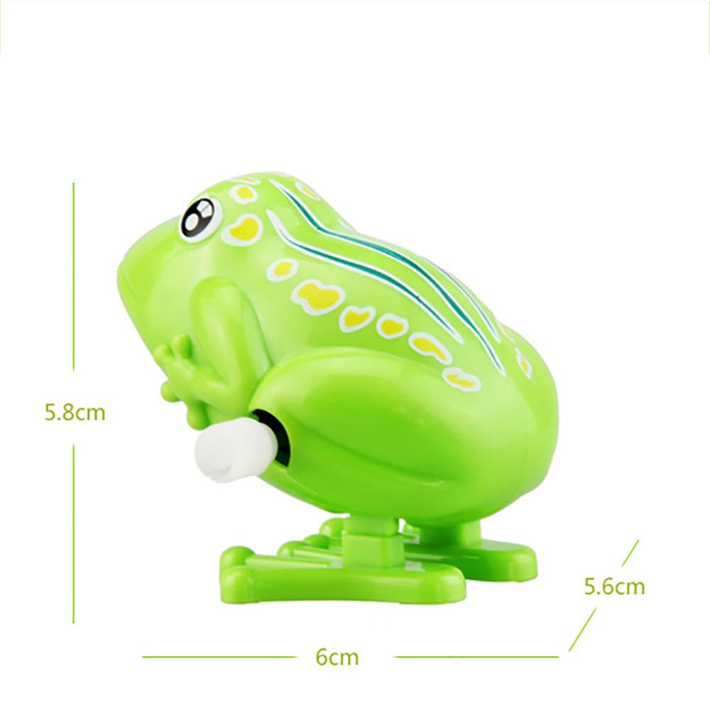 Mini Cute Green Jumping Frog Toys Pull Back Wind Up Toys Children Birthday Gift Home Shop Decor Children Christmas Gifts #A