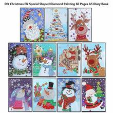 60 Pages Christmas Diamond Painting Notebook DIY Mandala Special Shaped Embroidery Cross Stitch A5 Diary Book Dropship