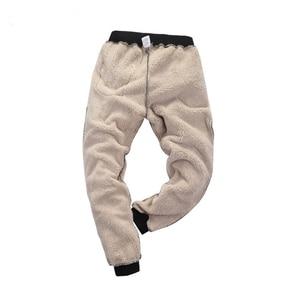 Image 4 - 冬のスポーツパンツ男性プラスベルベット暖かい厚手ラムスキン暖かいパンツメンズカジュアルパンツ 8XL 7XL 6XL 5XL