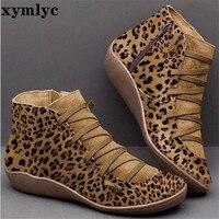 Женские ботильоны из искусственной кожи; женские зимние ботинки с перекрестными ремешками в винтажном стиле; плюшевые теплые короткие боти...