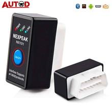 NEXPEAK NX101 elm327 Bluetooth V1.5 считыватель кода двигателя Мини OBD2 сканер автомобильный диагностический инструмент OBD 2 автоматический сканер