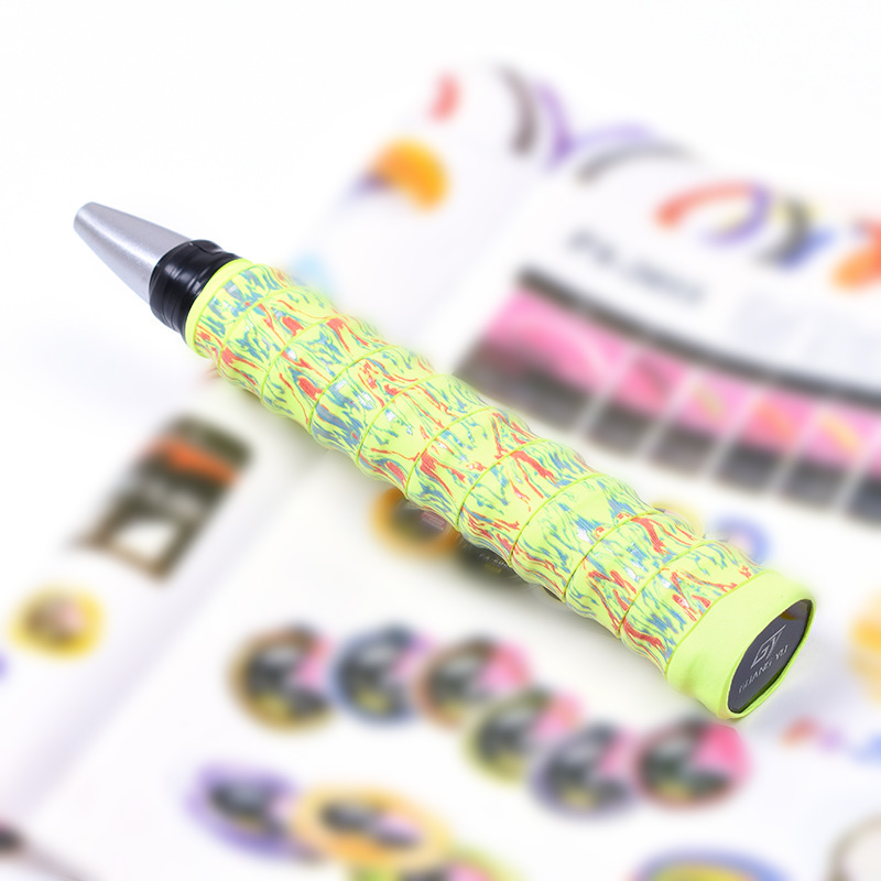 6 Color Tennis Racket Anti Slip Over Grip Tape Camouflage Thickened Sweat Band PU Leather + Composite Fiber Grip Tape