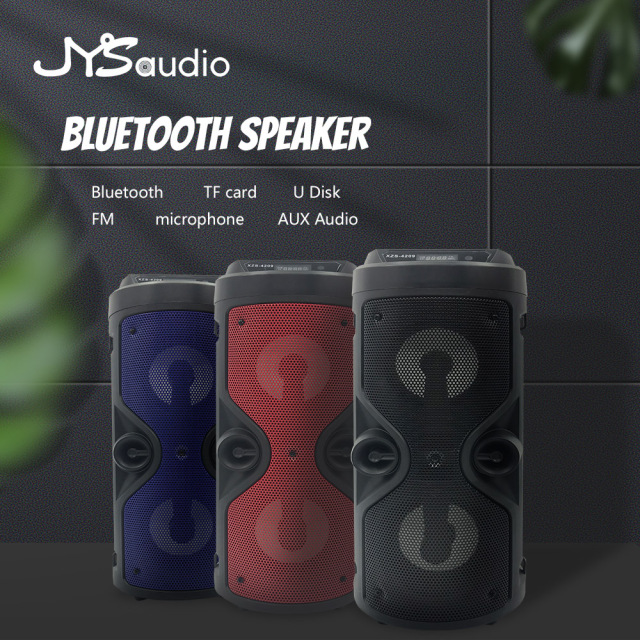 Outdoor Wireless Bluetooth Speaker Portable audio Column Subwoofer Stereo 1200mAh Battery Support FM Radio TF AUX USB 1