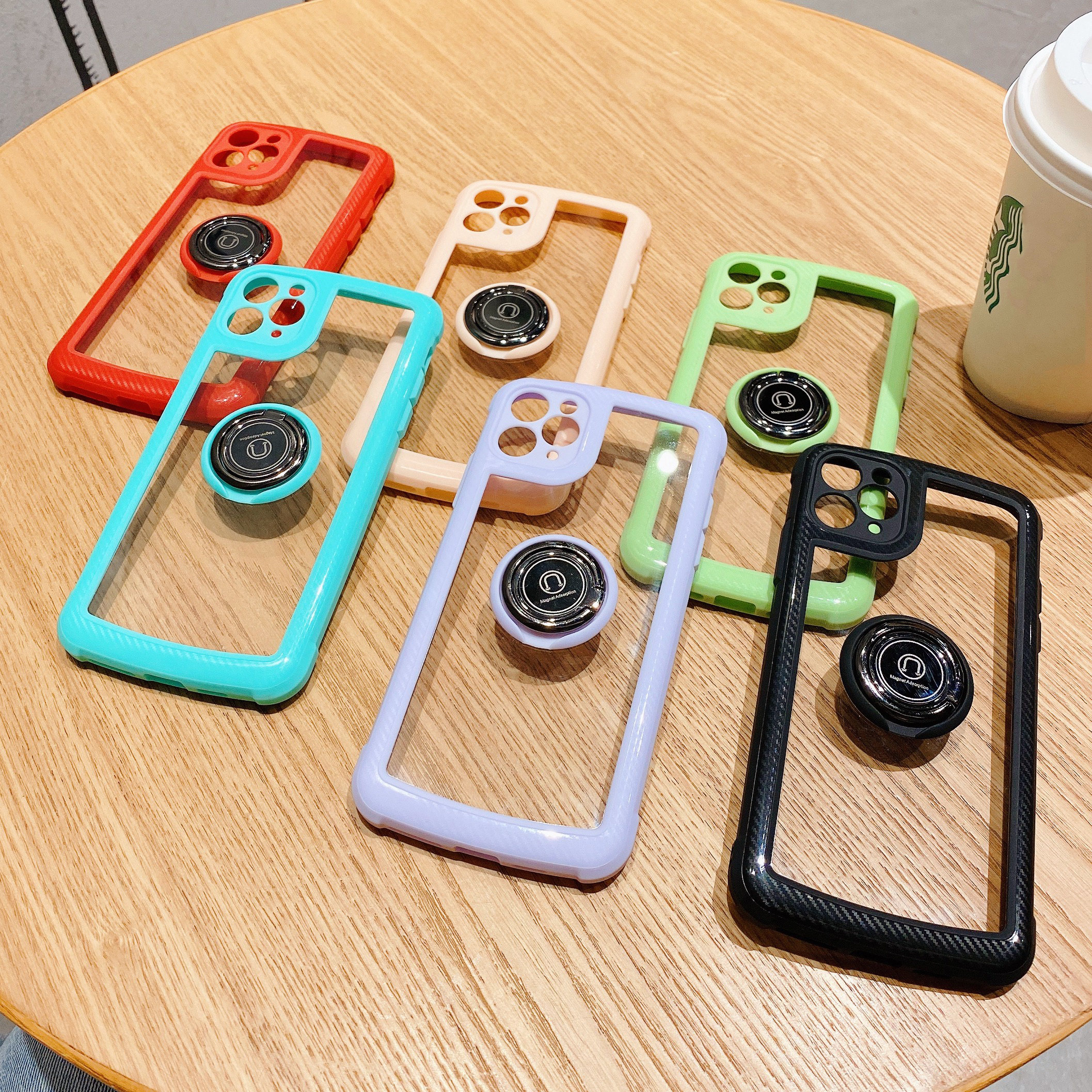 Для Apple iphone 11 12 Pro Max Мини чехол-подставка для телефона на магните с кольцо чехол для iphone XS Max XR X SE 2020 Мягкий силиконовый чехол для телефона