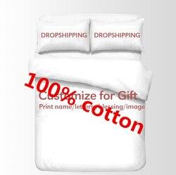 Juego de cama 2 Impresión digital personalizada 3D algodón F 100%