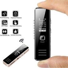 Profissional gravador de voz digital alto-falante gravador de voz digital de 32gb recarregável gravador de voz digital mini