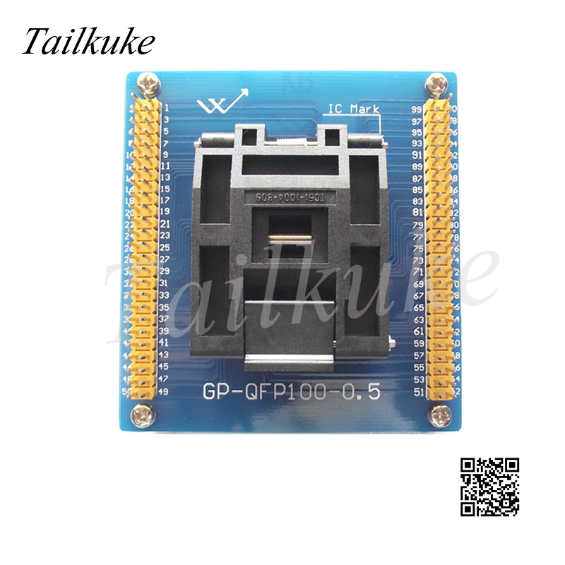 IC51-1004-809-23 Test Block QFP100 TQFP100 LQFP100 Programming Block Burning Block