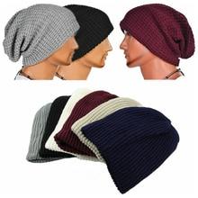 Новинка, Модная вязаная шапка для мужчин и женщин, большие размеры, тонкие длинные шапочки, Теплые Зимние Лыжные шапки, однотонные кепки, шапки