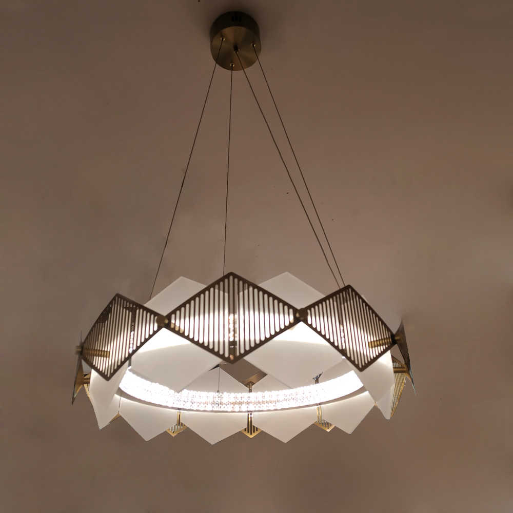 Kreative design moderne LED kronleuchter wohnzimmer beleuchtung gold  edelstahl lampe esszimmer leuchten
