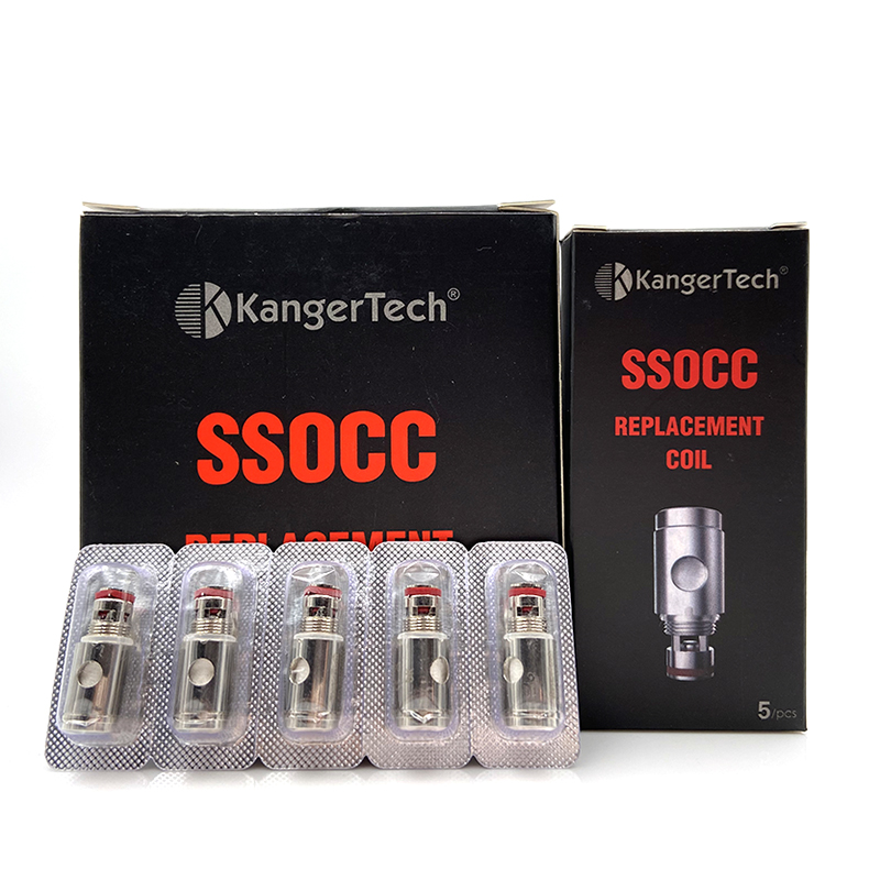 Vmiss 5pcs/box SSOCC 0.2  0.5 1.5 Ohm Replacement Coil Head For Kanger Subtank Mini Toptank/Nebox Sub Ohm Tank Atomizer