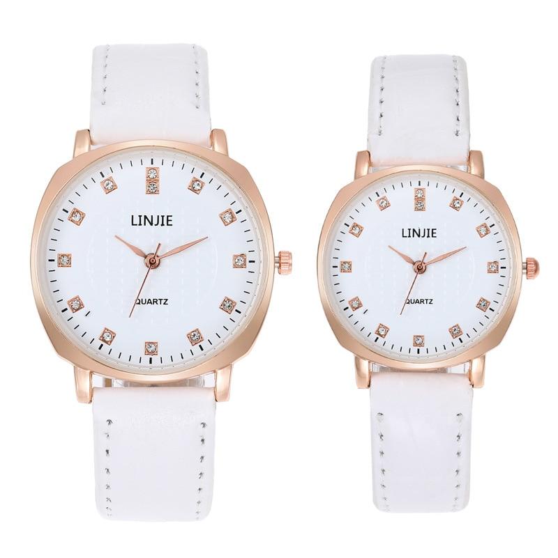 Fashion Hot Couple Fashion Simple Wristwatch Men's And Women's Diamond Belt Watch