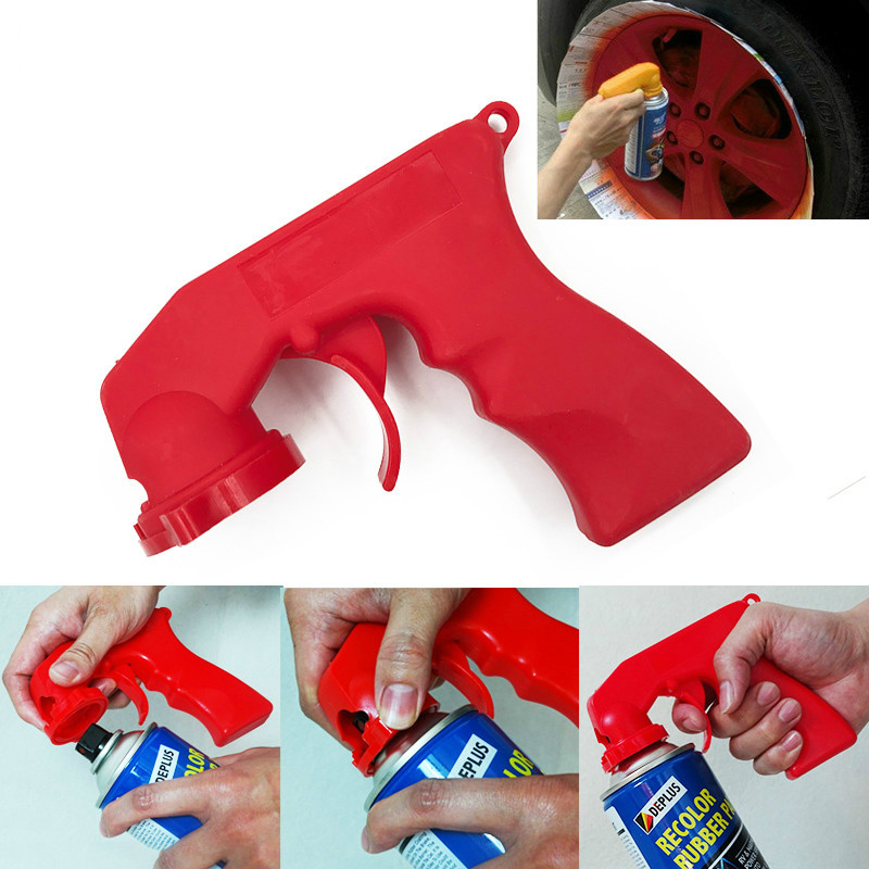 Spray Adaptor Paint Care Aerosol Spray Can Gun Handle With Full Grip Trigger Locking Collar Car Maintenance For Painting