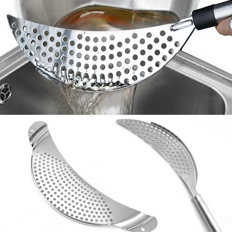 Сито для кастрюли из нержавеющей стали макароны спагетти практичный дренажный инструмент для мытья посуды для домашней кухни легко сливат...