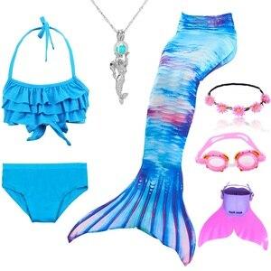 Image 5 - 인어 꼬리 의상 수영을위한 인어 꼬리 monofin 소녀 의상과 인어 꼬리 비키니 flippe와 수영복 수영복