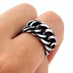 Хит продаж, кольцо в стиле ретро, панк, байкерское ювелирное изделие, широкая цепочка, кольцо Будды, кольцо в стиле рок-на серебряный цвет, ко...
