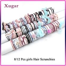Xugar Hair Accessories 1 Set/Bag Elastic Bands for Girls Scrunchies Pearl Holder Headbands Stretchy Women Hairbands