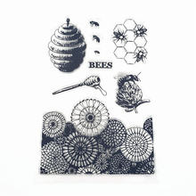 JCarter Rubber Stamps Sunflower Honeycomb for Scrapbooking Clear Stamp 2019 Silicone Seals Craft Stencil Album Card Make Sheet