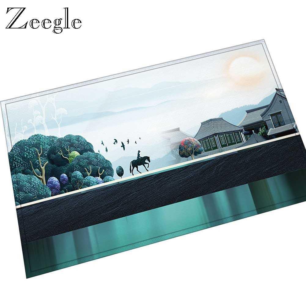 Zeegle impresso capacho para porta de entrada casa criativo tapete flanela tapete macio absorvente tapete do banheiro boa vinda entrada tapete