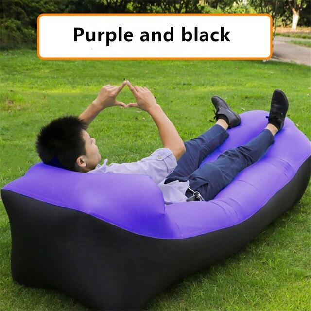 Sac de canapé gonflable rapide paresseux poser sac Camping Portable Air pliant plage oreiller lit tapis Air hamac chaise longue imperméable à leau