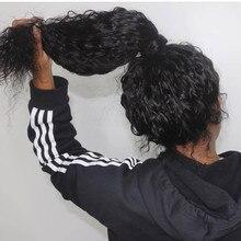 Волна воды полный шнурок человеческих волос парики с детскими волосами 8-26 дюймов полный парик шнурка бесклеевой перуанский Remy Предварительно выщипанные и отбеленные узлы