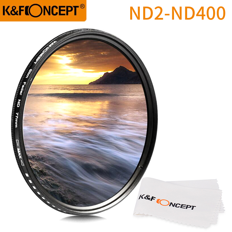KF concepto 77Mm Slim Variable Ajustable Fader ND Densidad Neutra Nd2 Nd4 Nd8 T