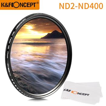 K amp F CONCEPT 52MM 55MM 58MM 62MM 67MM 72MM 77MM smukły suwak zmienny filtr obiektywu ND regulowany ND2 do ND400 neutralna gęstość tanie i dobre opinie K F CONCEPT ND2~ND400 lens filter
