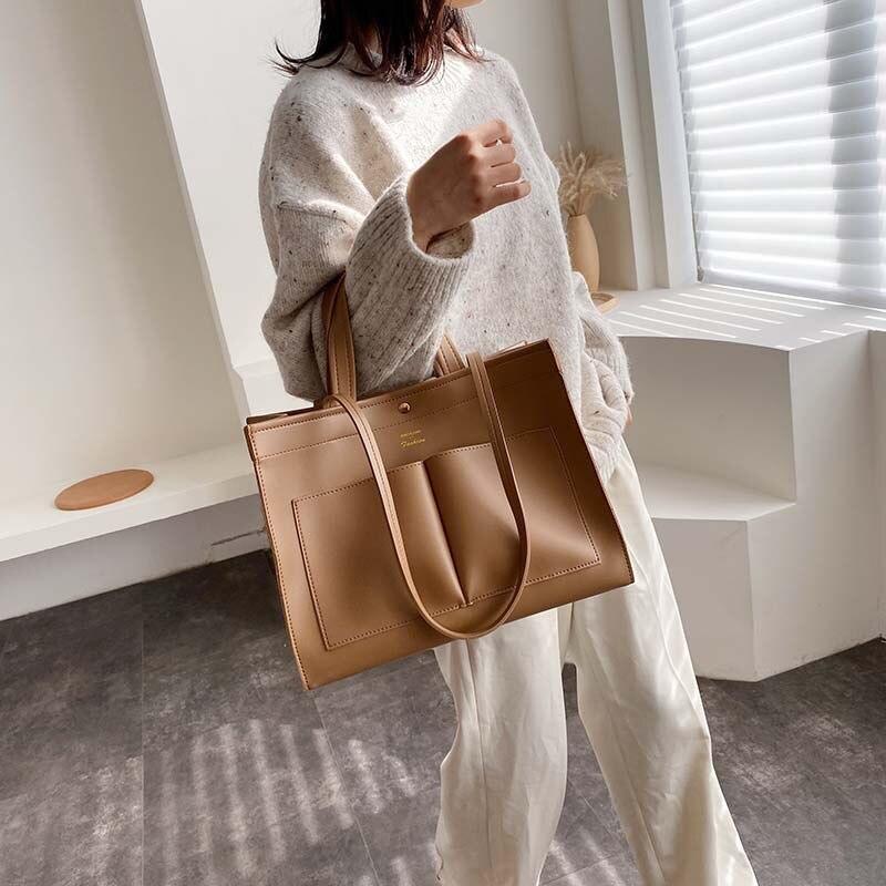 Image 3 - NEW 2019 big Women Handbag Leather Women Shoulder Bags Designer Women Messenger Bags Ladies Casual Tote Bags sac a mainShoulder Bags   -