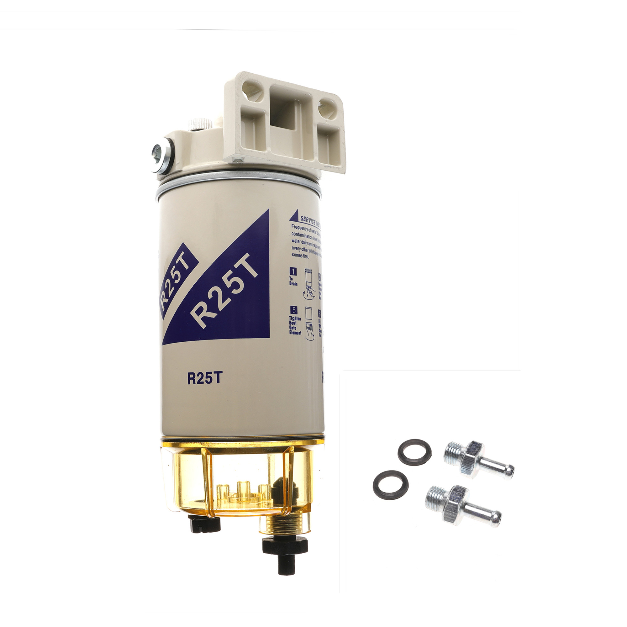 R25T Spin on Fuel Filter Water Marine Separator Replaces Racor 320R Rac 01