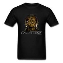 Juego de tronos hierro espada silla impresa hombres camiseta 2018 Vintage negro camiseta 3D TV tapas Hip Hop Punk Tee ropa
