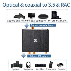 Image 2 - Adaptador de descodificador DAC Bluetooth 5,0, receptor de Audio, reproductor de disco en U, adaptador de micrófono KTV Coaxial óptico a Convertidor analógico