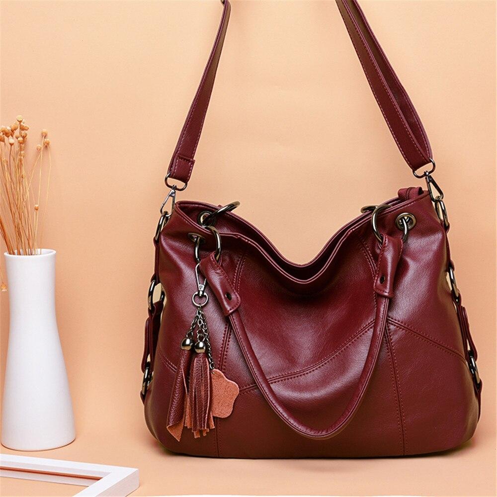 Genuine Leather Tassel Luxury Handbags Women Bags Designer Handbags High Quality Ladies Crossbody Hand Tote Bags For Women 2019 1
