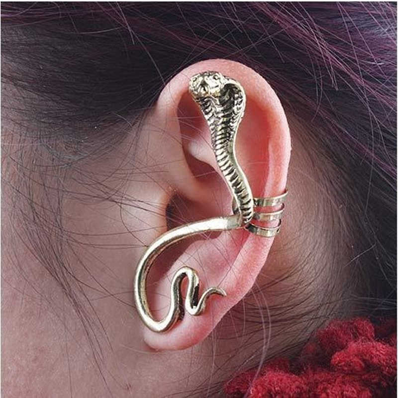 Cheap Price Alloy Plated Animal Snake Earring Jewelry Cuff Ear Clips Earrings Jewelry Punk Stylish
