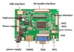 Image 2 - 1024*600 Màn Hình Màn Hình Hiển Thị Màn Hình LCD TFT Màn Hình Từ Xa Driver Điều Khiển Ban 2AV HDMI VGA Cho Lattepanda, raspberry Pi Chuối Pi