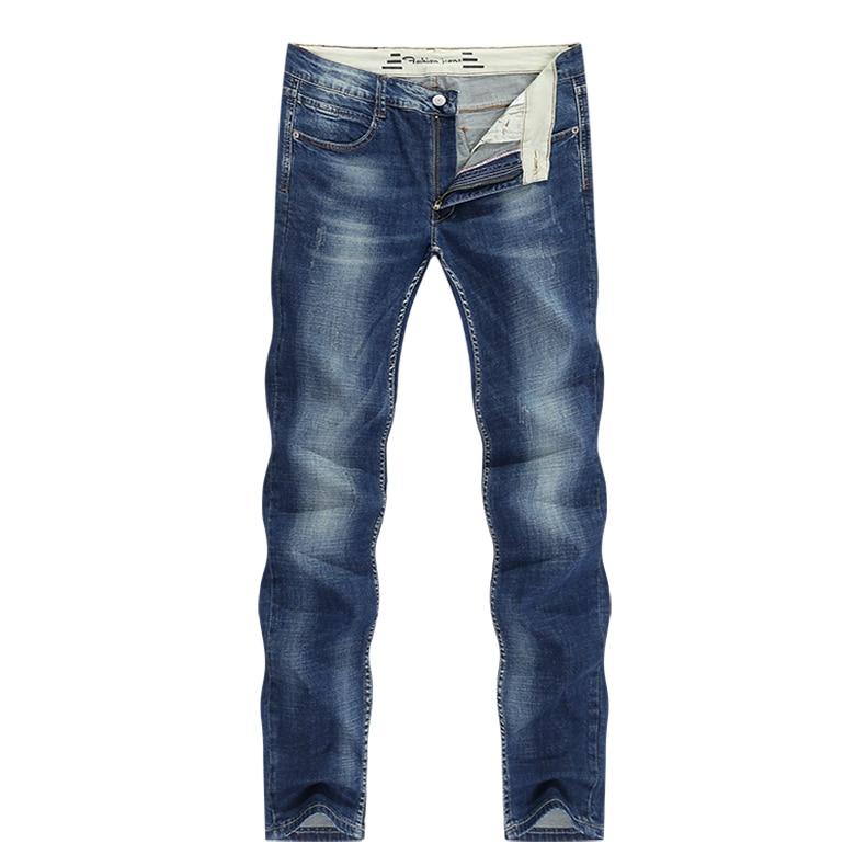 KSTUN Men's Jeans Classic Direct Stretch Dark Blue Business Casual Denim Pants Slim Straight Long Trousers Gentleman Cowboys 38 11